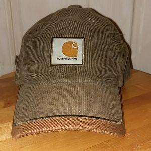 Vintage Carhartt Olive & Brown Corduroy Cap